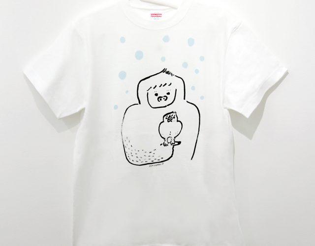 イエティに育てられた文鳥Tシャツ