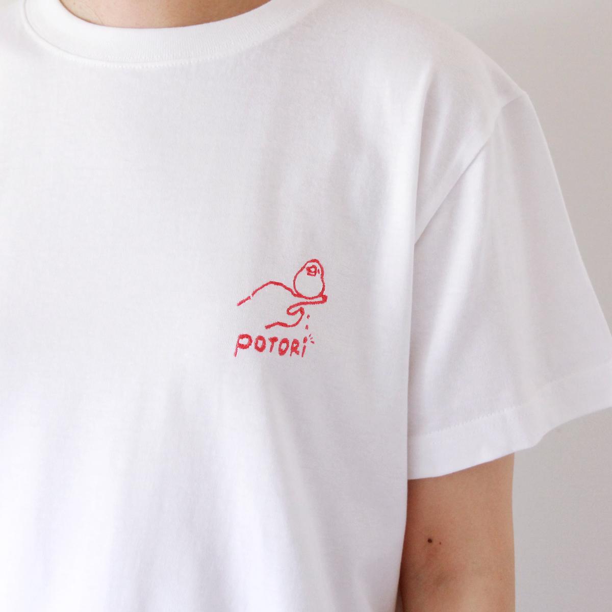 文鳥ポトリTシャツ ピンク