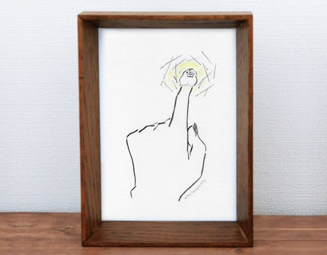 鳥に願いを「指先に小さな光」原画